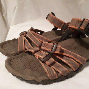 Teva 6514 Tan / Pink Open Toe Sandals Size 9 US